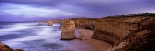 Panoramic Images – Rock formations Twelve Apostles Sea Rocks Great Ocean Road Port Campbell National Park Port Campbell Victoria Australia Photo Print (91,44 x 30,48 cm)