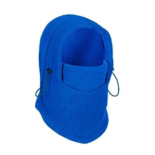 Pigupup Unisex Solid Color Kalt Proof Ski Caps Hüte Cashmere Outdoor Sports Radfahren Kopfbedeckungen Winter- Saphirblau Fun-ski Hüte