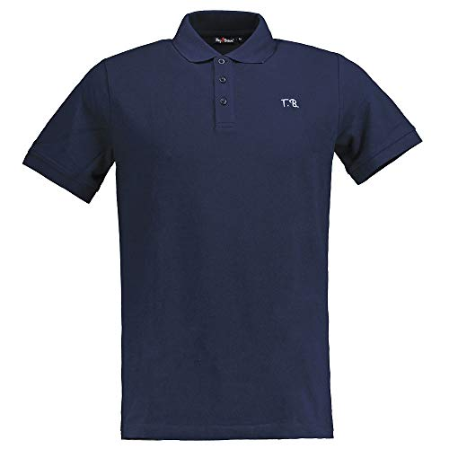 Tony Brown - Herren Polo Shirt Uni blau XXL