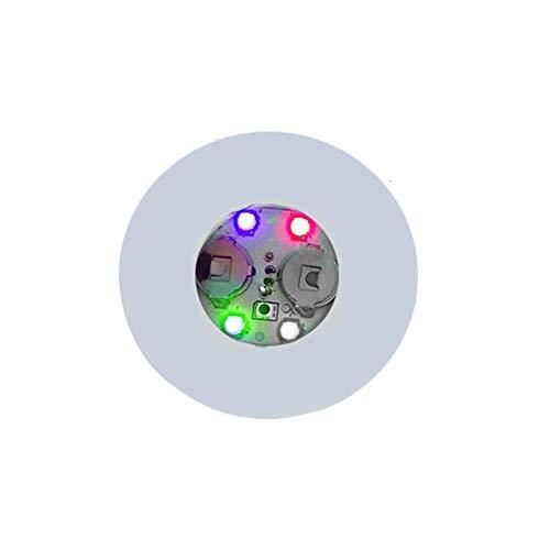 l Batteriebetriebene LED Untersetzer Transparent Multicolor Cup Mat(Bunt) ()