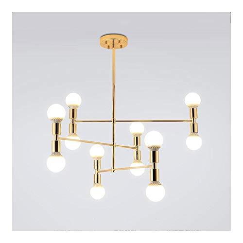 Shop-9 Hänge- & Pendelleuchten- Nordic Postmodern Minimalist Kronleuchter Beleuchtung Decke Hängen Pendelleuchte Wohnzimmer Lampe Restaurant Schlafzimmer Kunst Kreative Persönlichkeit Golden -