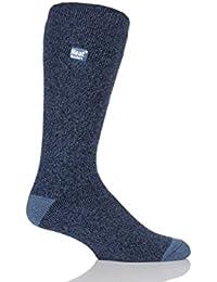 1 Paire Hommes Twist VÉRITABLE Marl Fleck hiver thermale chaude détenteurs de chaleur Chaussettes taille 6-11 Royaume-Uni, 39-45 Eur Indigo / Denim