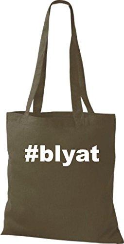 Shirtstown Stoffbeutel Hashtag #blyat olive