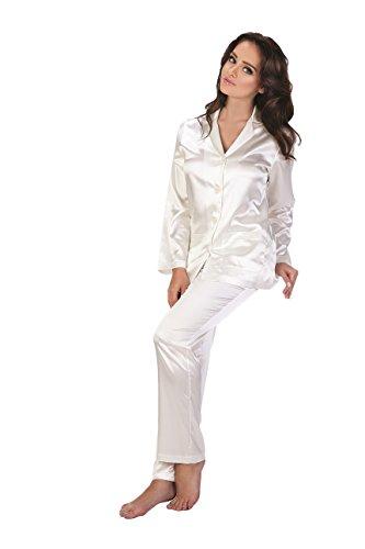FOREX Classico ed elegante pigiama di raso made UE madreperla XL