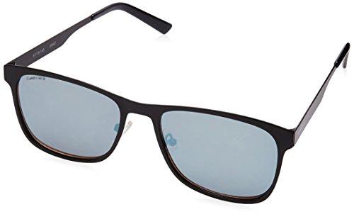 Fastrack UV Protected Square Men's Sunglasses - (M147BU1|58|Smoke (Grey/Black) Color)