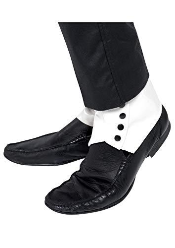 1920's Damen Dress Kostüm Fancy - Gamaschen Weiß mit schwarzen Knöpfen, One Size