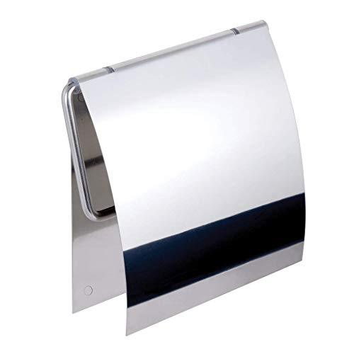 Ersatz-papierrollenhalter Oberfläche (Kapitan 3M Selbstklebend WC Papierhalter mit Deckel Toilettenpapierhalter, V2A 18/10 Edelstahl (AISI 304 18/10), Wandmontage, Poliert, Made in der EU, 20 Jahre Garantie)