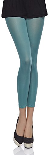 Merry Style Damen Mikrofaser Leggings Clara 40 DEN Mint