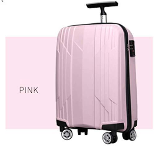 TYJH Maletero Ultraligero Maleta Ruedas Viaje,Pink,19inches