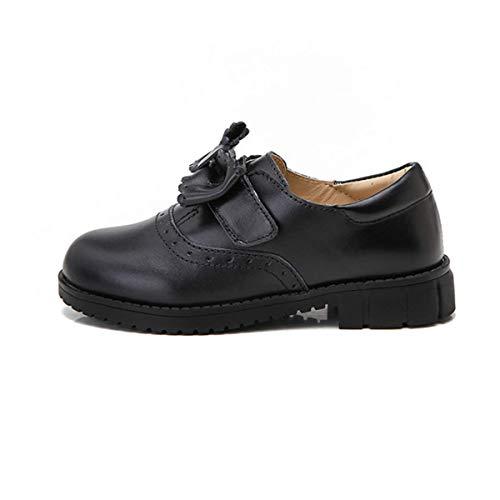 IZZY Marigold Zapato de Piel, Escolar para niñas, Color Negro, Talla 26 EU