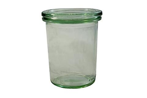 Pack 12 Vases W/Lid 160 Ml Glass