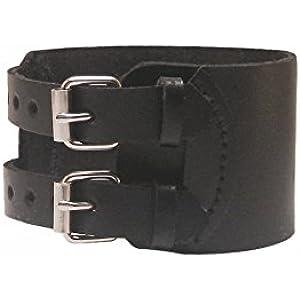 Caer Armband / Handgelenkbandage Classic, Leder, schwarz