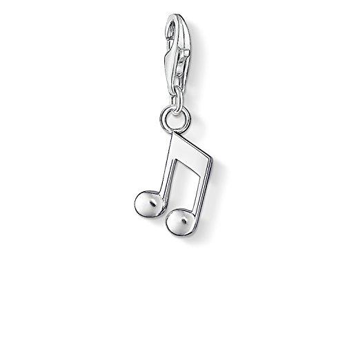 Thomas Sabo Damen-Charm-Anhänger Note Charm Club 925 Sterling Silber 0846-001-12 (Musik Note Bettelarmband)