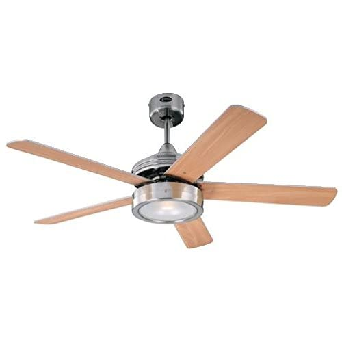 31GQZIDzbKL. SS500  - Westinghouse Ceiling Fans 78545 Hercules One-Light 132 cm Five-Blade Indoor Ceiling Fan, Brushed Nickel Finish