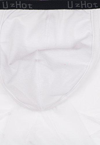UzHot - Slip - da uomo,3 pezzi Bianco