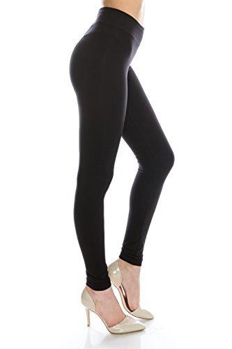 formende leggings EttelLut BaumwollSpandex Basic-Knit Jersey Plus Size Voll schwarze Leggings plus Größe Hose schwarz XXL