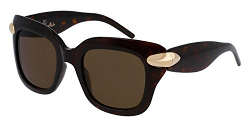 Pomellato pm0017s 002, occhiali da sole donna, marrone (002-avana/brown), 49