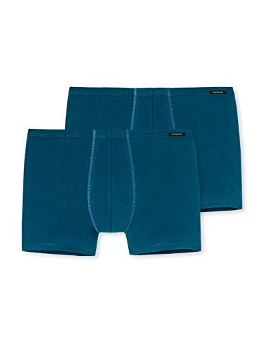 Schiesser Herren Boxershorts Shorts (2er Pack), 2er Pack, Blau (Petrol 811), XX-Large