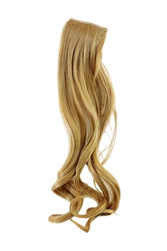 WIG ME UP - Breite Extension mit 2 Clips Strähne Haarverlängerung Haarteil Highlight wellig 45cm / 18inch Blond YZF-P2C18-86 -