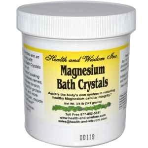 Magnesium Bad Kristalle, 3/4 lb (341 g) - Gesundheit und Weisheit Inc. - Anzahl 1