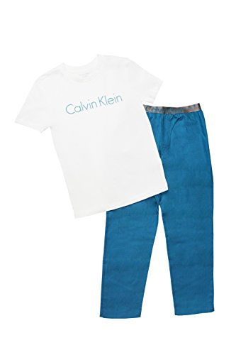 Calvin Klein Jungen Schlafanzug PJ-Set-Customized Stretch Größe:116/122 (Herstellergröße: 6-7) -