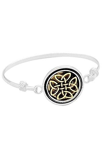 Rosemarie Collections-Bracciale da donna in argento con nodo celtico & oro