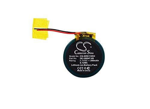 CS 200mAh Li-ion Akku passend für Garmin Forerunner S1W 110 210W Approach S1 S3 S4, ersetzt Garmin 361-00047-00 361-00064-00