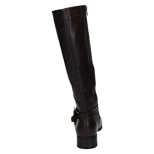 Mesdames Spot sur genou haute Bottes/à l'intérieur Fermeture Éclair/Boucle Conception Marron