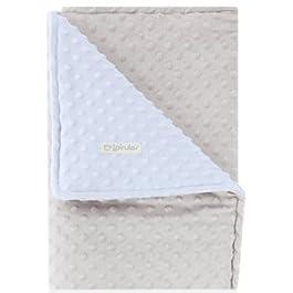 pirulos 64005153–Decke Doubleface, 80x 110, gepunktet, Farbe: Grau/Blau