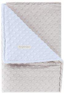 pirulos 64105153–Decke doppelseitig, 110x 140, Design Dots, 05153grau/blau