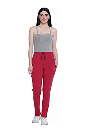 CUPID Regular Fit Cotton Plain Track Pant, Lower, Sports Trouser, Joggers, Night Pant, Lounge Wear and Daily Use Gym Wear for Women