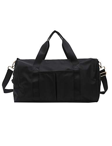 kruihan sport fitness borsa donne/uomini bagaglio - all'aperto viaggio formazione danza yoga campeggio nuoto vacanza abiti scarpe conservazione borsetta nero