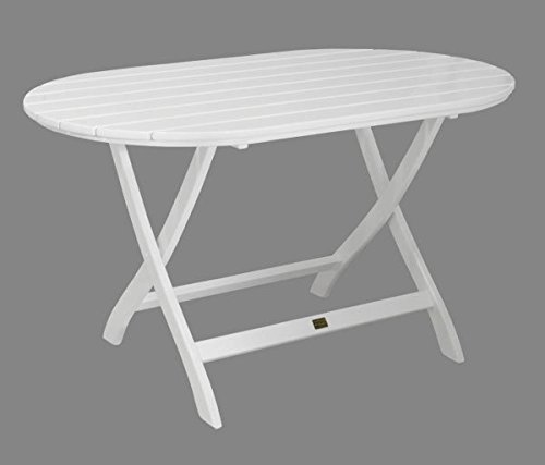 Gartentisch Mainau Klappbar Oval Nostalgie Aus Holz Weiss