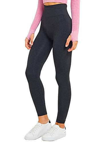 INSTINNCT Damen Yoga Lange Leggings Slim Fit Fitnesshose Sporthosen Stil4-Schwarz(Upgrade) M - Taille Unterstützung Strumpfhosen
