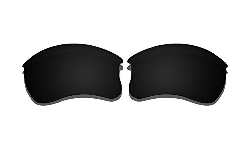 Schwarz Polarisierte Ersatz-Gläser für Oakley Flak Jacket XLJ Sonnenbrille