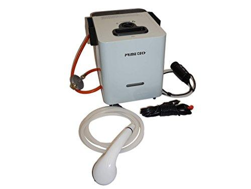 Prime Tech Camping Warmwasser-Bereiter Durchlauferhitzer Gas-Betrieb (12 Volt-gas-pumpe)