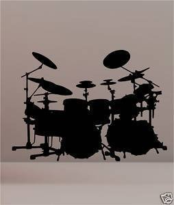 online-design-drum-set-kit-wall-art-vinyl-wall-art-sticker-musical-black