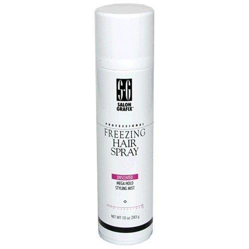 Salon Grafix Professional Freezing Hair Spray, Unscented, Mega Hold Styling Mist 10, 10-Ounce Spray Bottle (Pack of 3) by Salon Grafix