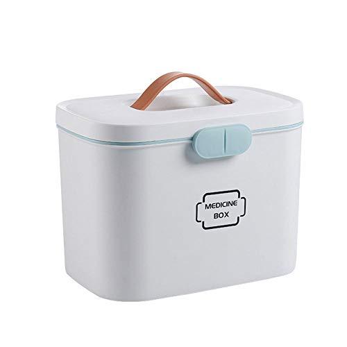Medizinbox, Ablageboxen Tragbare Erste-Hilfe-Box -Haushalt Kunststoff Medizin Schrank Aufbewahrungsbox Für Erste-Hilfe-Koffer Für Kinder Medizinische, Medizin Box mit Griff mit herausnehmbarem ,White