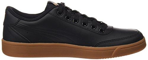 Puma Unisex-Erwachsene Court Breaker L Mono Sneaker Schwarz (Puma Black-Metallic Gold)