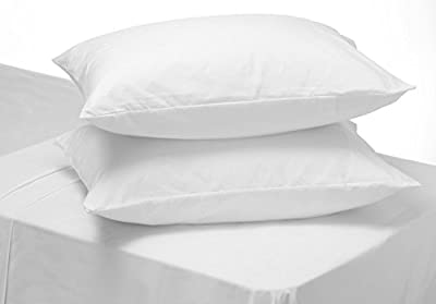 [hachette] WHITE 100% EGYPTIAN COTTON PAIR OF PILLOWCASES 200 THREAD COUNT