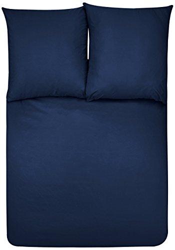 AmazonBasics Parure de Lit avec Housse de Couette en Microfibre, Bleu Marine, 240 x 220 cm