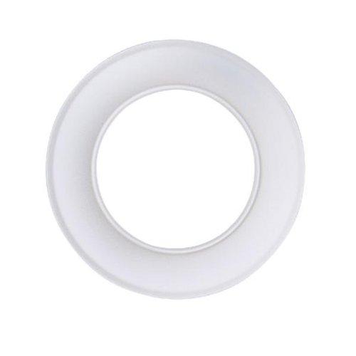 Kamino Flam Ofenrohrrosette weiß, Sichtblende aus emailliertem Stahl, rostfreie Kaminrosette für nostalgische Öfen, Rosette anwendbar bis 300 °C, Durchmesser: ca. 120 mm, Ringbreite: ca. 3,5 cm