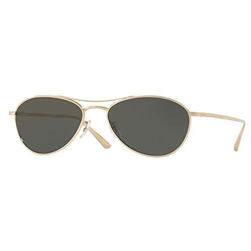 Oliver Peoples OV1245ST - 5292P2 Sunglasses AERO LA WHITE GOLD, Polarized 54 mm