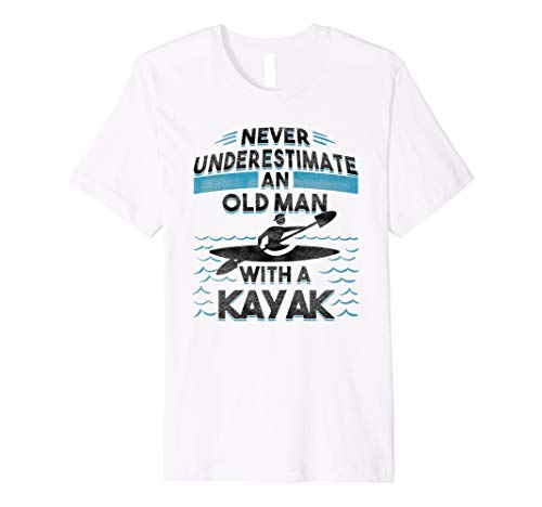 56be56d8 Herren Never Underestimate An Old Man With A Kayak T Shirt Funny