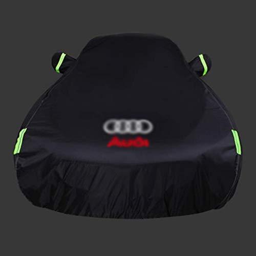 SAN_X Fahrzeugabdeckung Audi A4L Autokleidung A6L Autoabdeckung Q3 / Q5 / A3 / A5 / A7 / A8 / TT Regen Sonnenschutzfolie (Farbe : Logo, größe : TT)