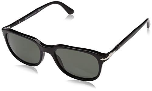 Persol Herren 0Po3191S 95/58 55 Sonnenbrille, Schwarz (Black/Crygreenpolarized),