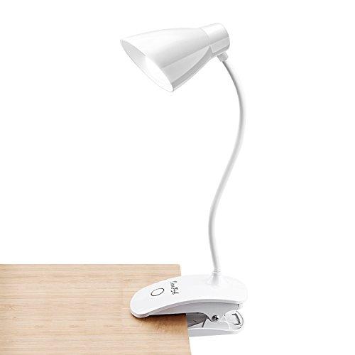 OCOOPA Leselampe klemmen, LED Klemmleuchte Buch Dimmbar Schreibtischlampe Augenschutz Flexible Nachttischlampe LED nachladbare klemmlampe kinder mit Touch-Dimmer, 3-Stufe Helligkeit weiß