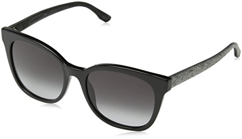 BOSS Hugo Damen 0893/S 9O UI5 Sonnenbrille, Schwarz (Blk Blkrubbe/Dark Grey Sf), 53
