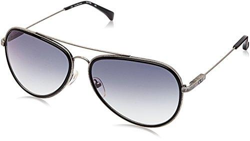 Calvin Klein Jeans Gradient Aviator Men\'s Sunglasses - (Calvin Klein Jeans 108 001 59 S|59|Blue Color)